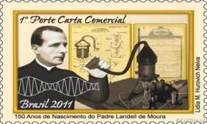 Selo comemorativo aos 150 anos do nascimento de Padre Landell de Moura