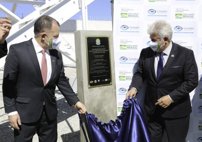 Ministro Marcos Pontes inaugura el Radar RMT 0200
