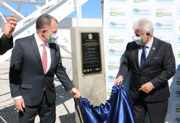 Minister Marcos Pontes launches Weather Radar RMT 0200 in São José dos Campos, Brazil