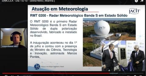 IACIT apresenta tecnologias do RMT 0200 e Sistema WEBRADAR em painel do Simclea