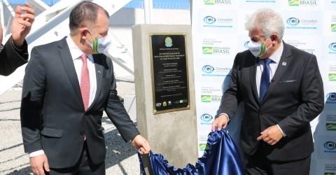 Ministro Marcos Pontes destaca tecnologia do Radar Meteorológico RMT 0200 inaugurado em São José dos Campos